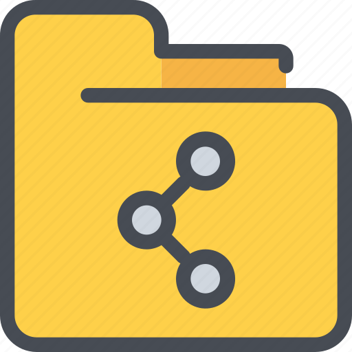 archive, document, file, folder, share, social icon