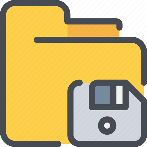 archive, disk, document, file, folder, save icon