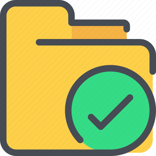 archive, check, document, file, folder icon