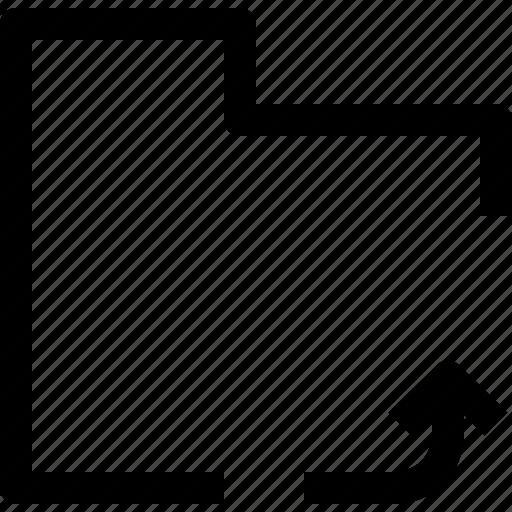arrow, document, file, folder, object, office icon