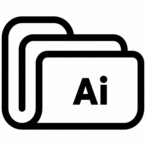 document, file, folder, illustrator icon