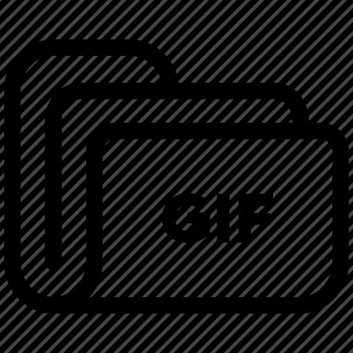 document, extension, file, folder, gif, storage icon