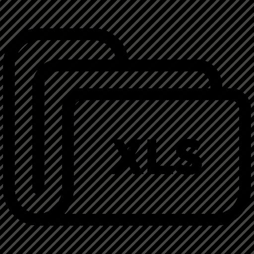document, extension, file, folder, xls icon