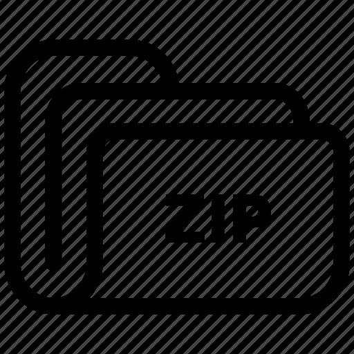 document, extension, file, folder, storage, zip icon