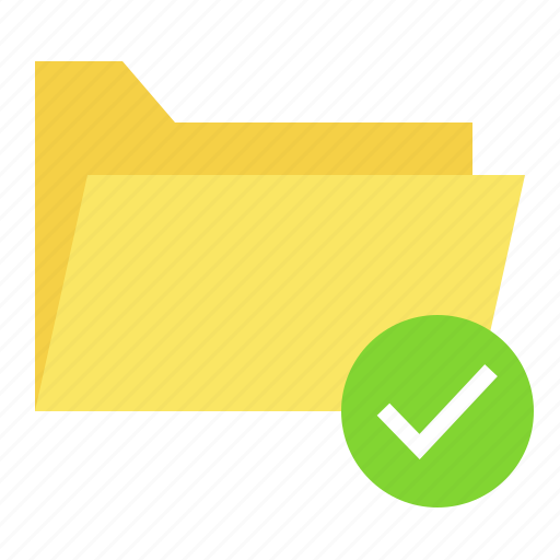 Approve, document, file, folder icon - Download on Iconfinder