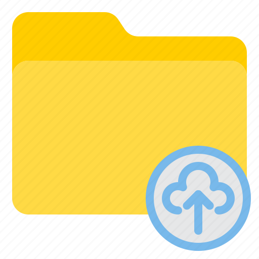 cloud, doc, document, file, folder, up icon