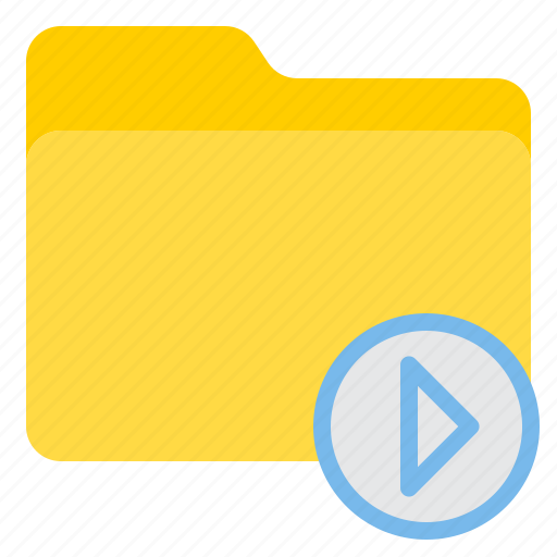 doc, document, file, folder, play icon