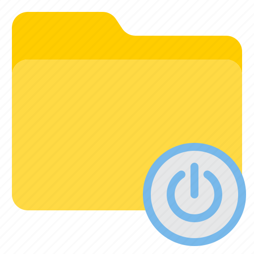 doc, document, file, folder, power icon