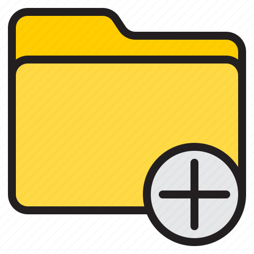 add, doc, document, file, folder icon