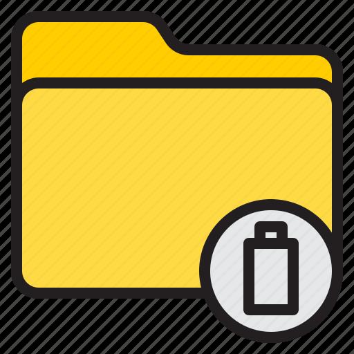 battery, doc, document, file, folder icon