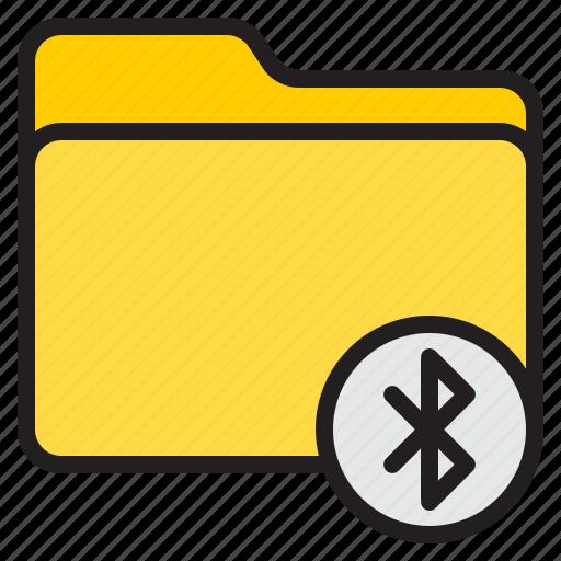 bluetooth, doc, document, file, folder icon