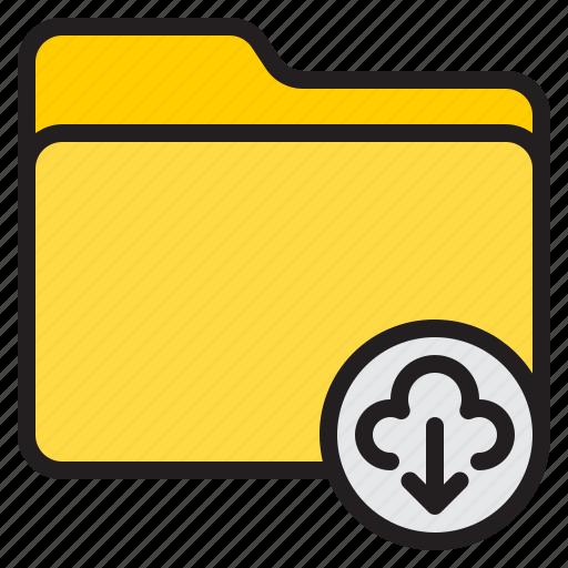 cloud, dawn, doc, document, file, folder icon