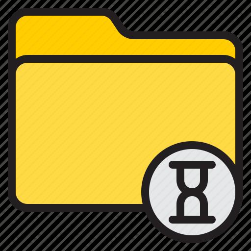 doc, document, file, folder, wait icon