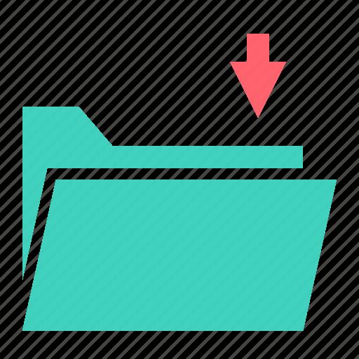 Document, download, file, folder, receive, save icon - Download on Iconfinder
