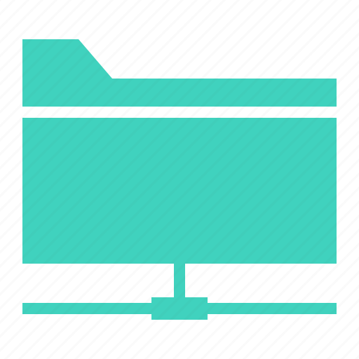 document, file, folder, lan, share icon