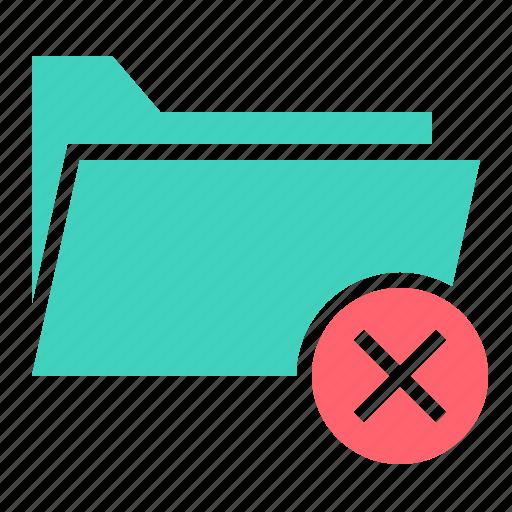 cancel, delete, document, file, folder, remove icon