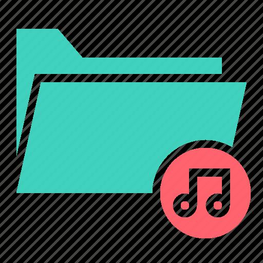 document, file, folder, music, ui icon
