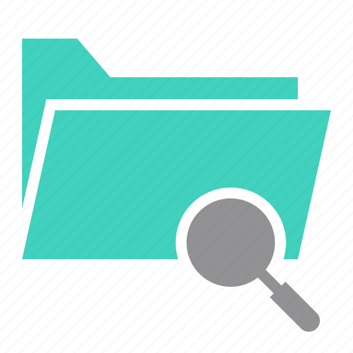 document, file, find, folder, magnify glass, search icon
