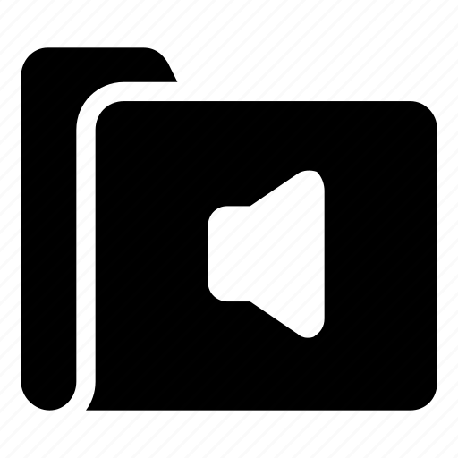 audio, folder, sound icon