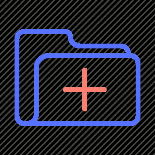 add, create, folder, new, plus, storage icon