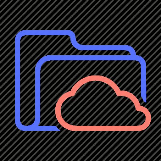 cloud, folder, folder-saving, online, save, saved icon
