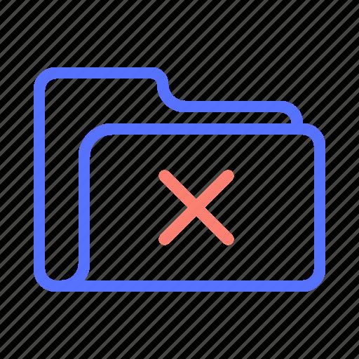 cancel, close, delete, folder, remove, supprimer icon