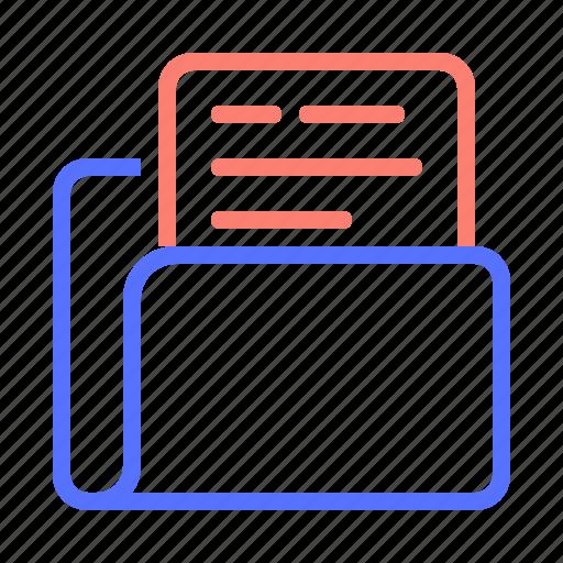 document, file, folder, paper, sheet, type icon