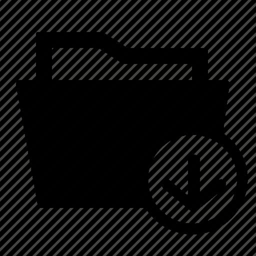arrow, down, download, downloads, folder, storage icon
