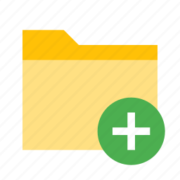 add, documents, folder, plus icon