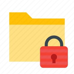 documents, file, folder, lock, locked, private, secure icon