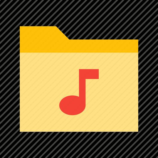 audio, files, folder, music, sound icon