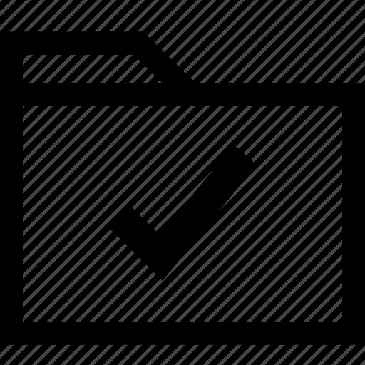 approved, file, folder, safe, save, secured, sent icon