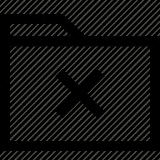 cross, delete, denied, file, fodler, stop icon