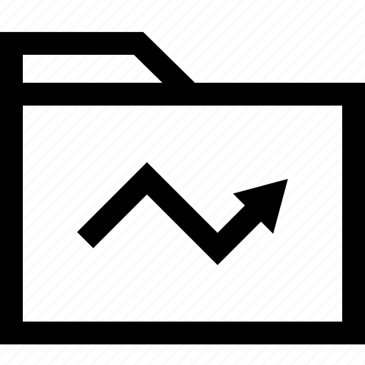 arrow, data, file, folder, point, up icon