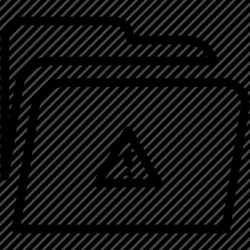 alert, data, disk, explorer, file, folder, storage icon