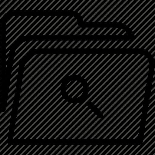 data, disk, explorer, file, find, folder, storage icon