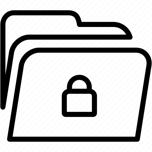 data, disk, explorer, file, folder, lock, storage icon
