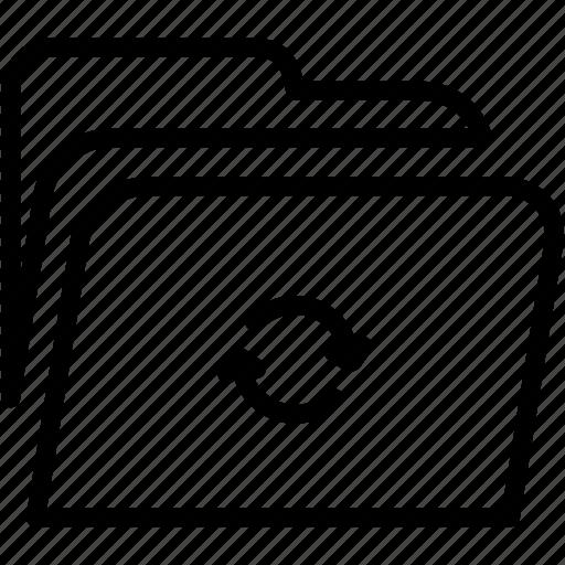 data, disk, explorer, file, folder, refresh, storage icon