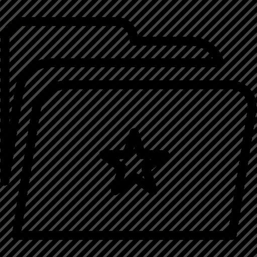 data, disk, explorer, file, folder, star, storage icon