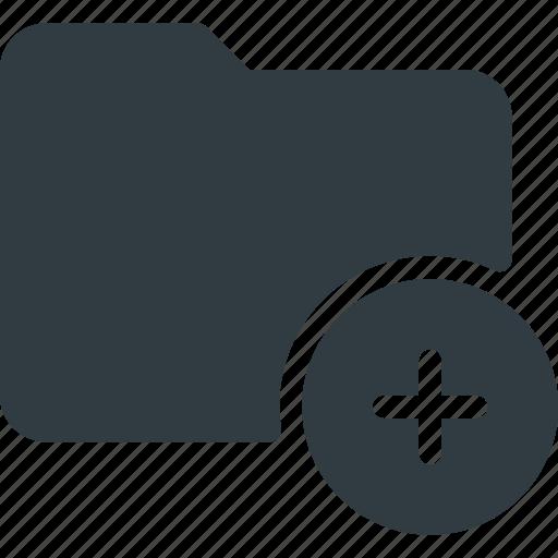 Directory, add, folder icon