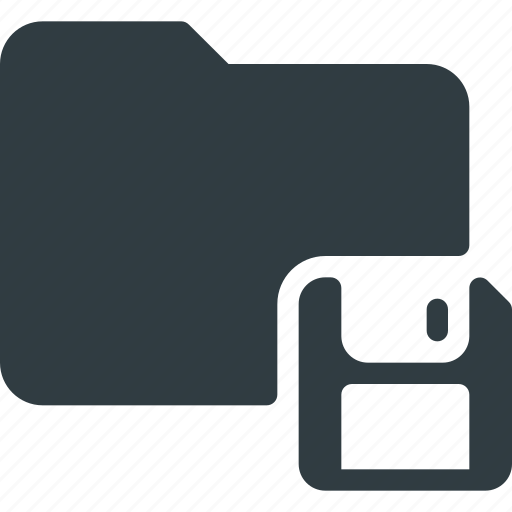 directory, floppy, folder, save icon