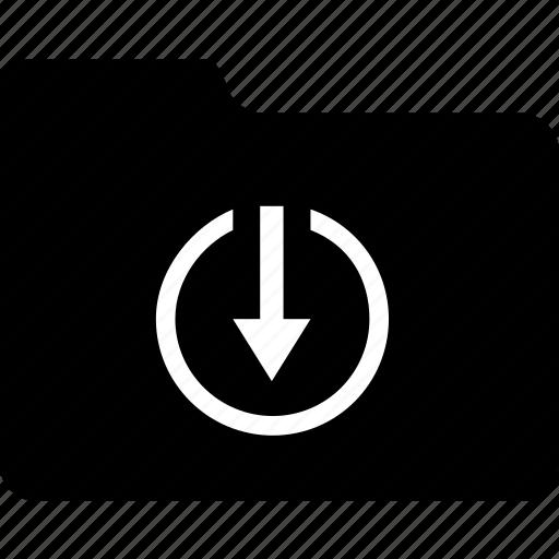 circle, cloud, data, download, folder, guardar, save, transfer icon