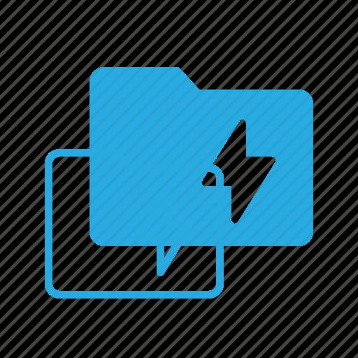 directory, fas, flash, folder, lighting icon