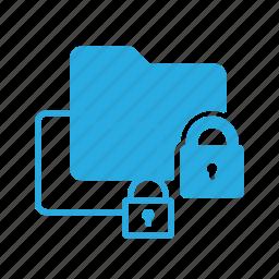 directory, folder, lock, protect icon
