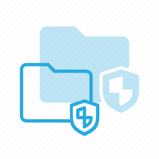 directory, folder, protect, secure, shield icon