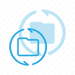 directory, folder, refresh, reload icon
