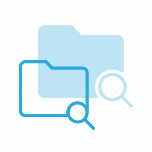 directory, folder, search icon