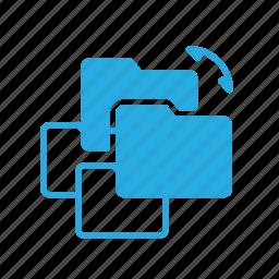 directory, folder, sync, syncronize icon