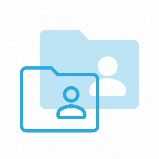 directory, folder, personal, user icon