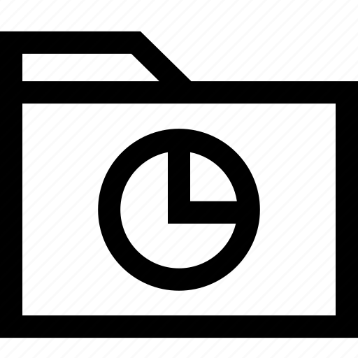 data, folder, graph icon